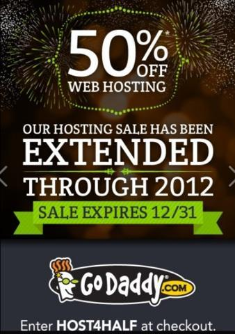 Godaddy 50 Off hosting