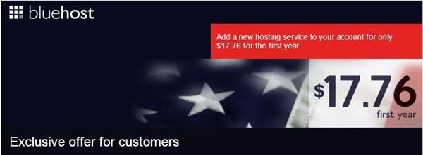 $1.48 per month bluehost Hosting