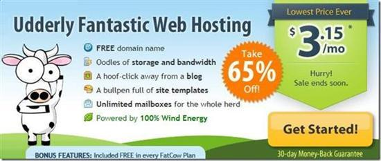 65% OFF FatCow hosting Coupon code