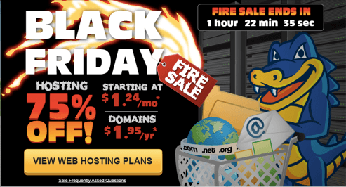 Hostgator Cyber Monday 2013 sale 75% Off Hosting