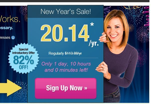 82 percent Off iPage New Year Sale - $20.14 per year hosting