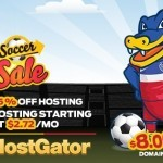 HostGator Soccer Sale - 45% Off All New Hosting Plus $8 Domains!